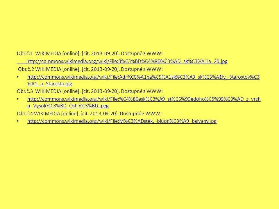 Obr.č.1 WIKIMEDIA [online]. [cit. 2013-09-20]. Dostupné z WWW: